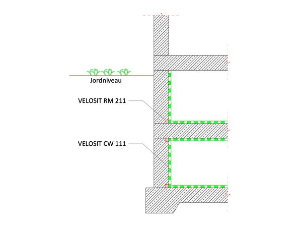 Negativside – elementdæk/væg